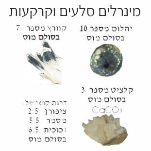 מינרלים סלעים וקרקעות