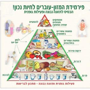 פירמידת המזון בלי משרד הבריאות